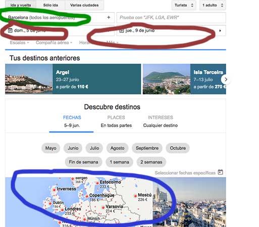 google-flight-viajohoy Viaja según tu presupuesto con Google Flight