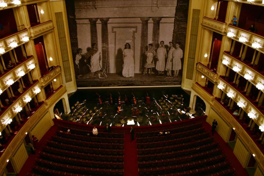 Staatsoper Wien, Innenansicht Staatsoper: Casa de la Ópera