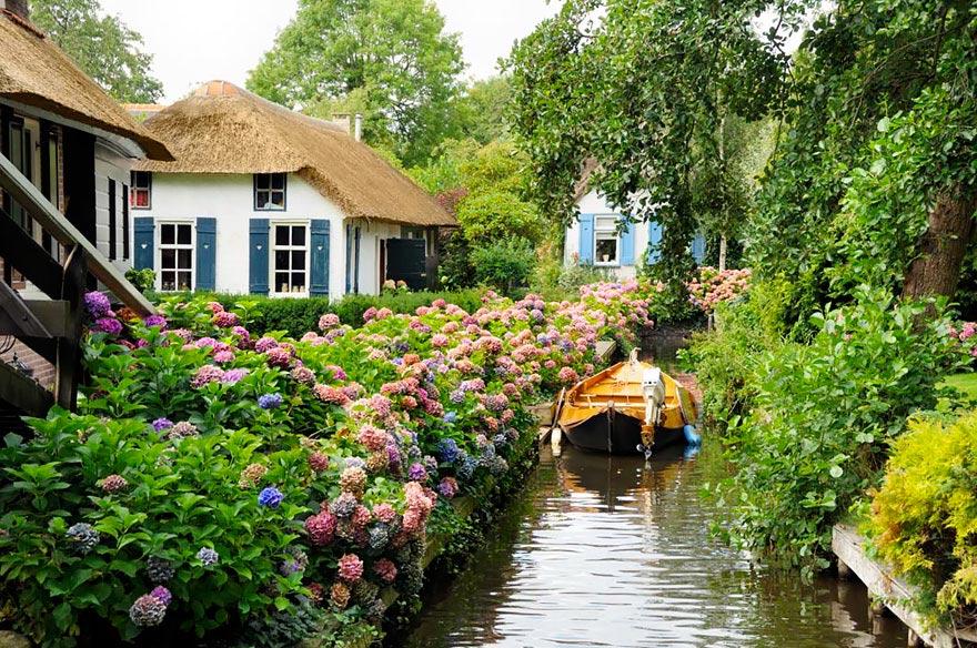 Aldea-Giethoorn-holanda2 Aldea Giethoorn en Holanda – Venecia del Norte