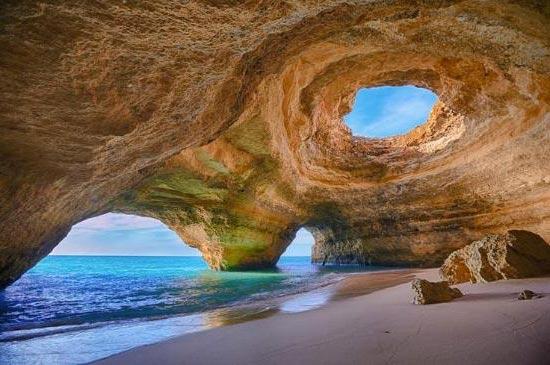 Playa de Marinha Arquitectura Natural Visita Portugal