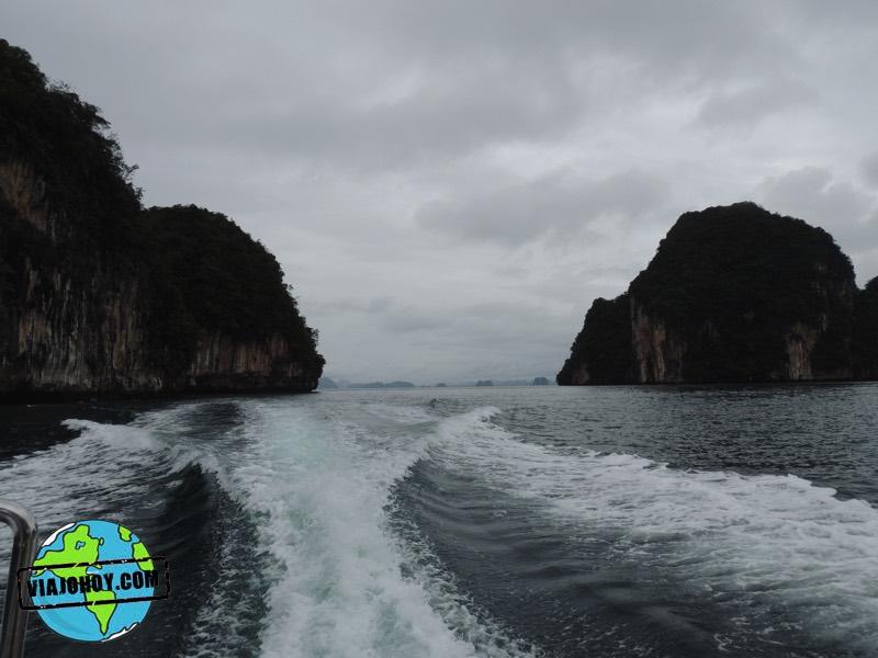 Vista de la Bahia de Phang Nga en Krabi - Tailandia Tour a las Islas Hong en Krabi – Ao Nang