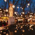 Las luces en la Navidad en Basilea